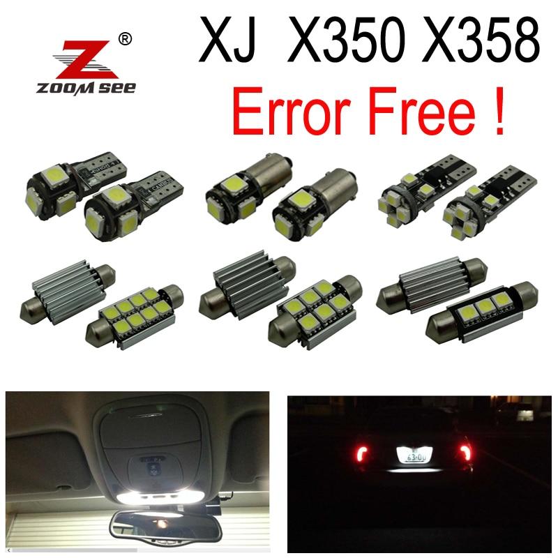 28pc х canbus светодиодные лампы заднего хода + внутренний купол света Комплект для Ягуар XJ X358 x350 электронной Ягуар xj8 xj6 на возрастной рейтинг (2003-2009)