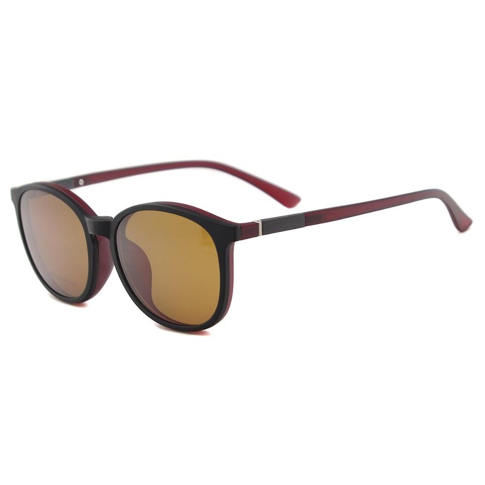 Flexible Kunststoff Vintage Runde Sonnenbrille Frauen Magnetische - Bekleidungszubehör - Foto 4