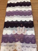Latest African Cord Lace Fabrics High Quality 2018 For Nigerian Party Purple Lace Fabric Aso Ebi Guipure Lace Fabric