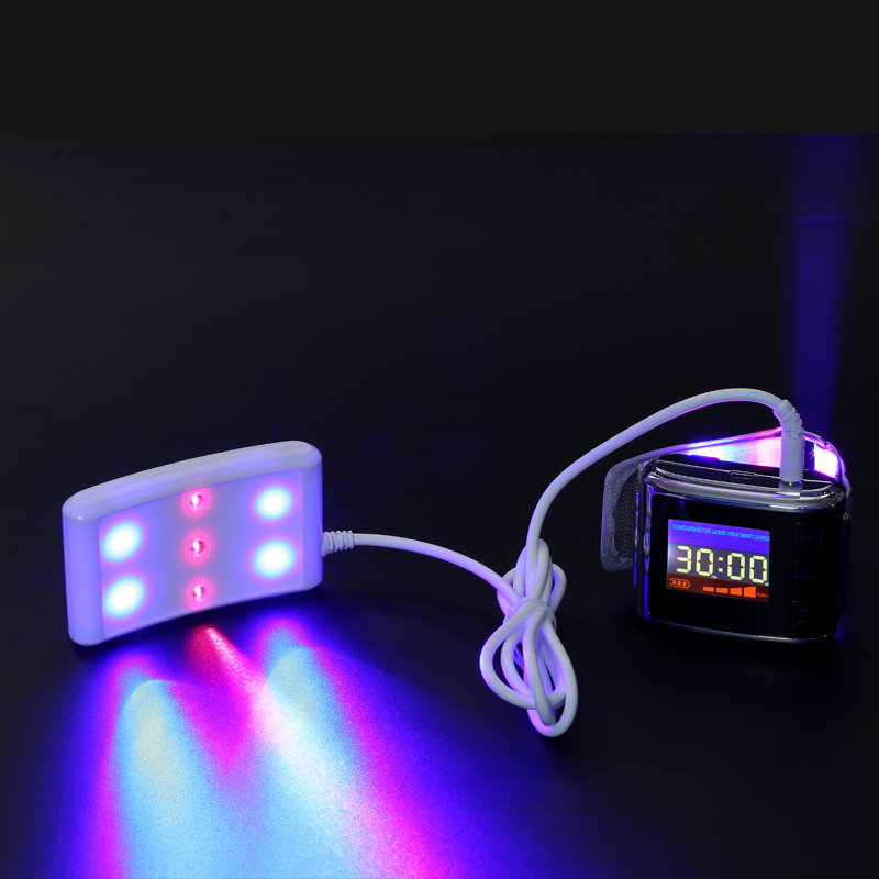 RED and blue laser& light therapy photomodulation led laser watch Weber watch treat High blood viscosity Prevent Heart Attack acupuncture laser light device lowering blood viscosity naturally