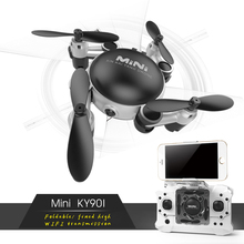 Selfie Pocket Foldable Mini Dron RC Quadcopter Drone Camera with Wifi FPV Altitude Hold RC Helicopter Toys Birthday Gift Kids