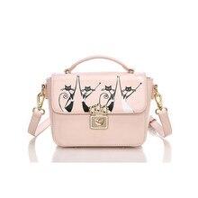 Katze Druck Tasche 2016 Designer Handtasche frauen CrossBody Gute Pu-leder Umhängetasche Weiblichen Umhängetasche Frauen Tasche Vento Marea