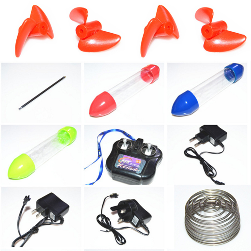 Origial Fishing Bait Boat Spare Parts <font><b>Remote</b></font> <font><b>Control</b></font> Antenna US/UK/EU Plug Adapter Replacement Float Tube Propellers PC Board image