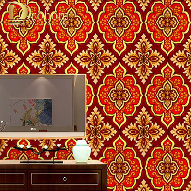High quality Damask Gold Wallpaper Rolls Bedroom Sofa Living room Background Embossed Glitter Luxury Gold Foil Wall paper R616 creamy white living room bedroom damask wallpaper