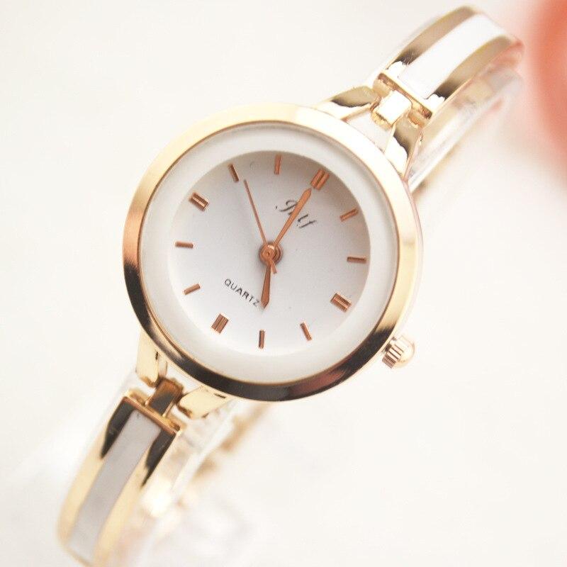 2016 Guld Armband Armbandsur Kvinnor Rinestone Armbandsur Girl Relojes Mujer Bangle Kvinnor Klocka