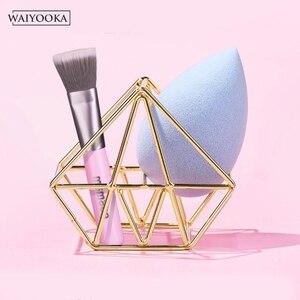 Image 3 - 2 pièces maquillage beauté oeuf poudre bouffée éponge présentoir pratique cosmétique stockage outil séchage support pour coiffeuse