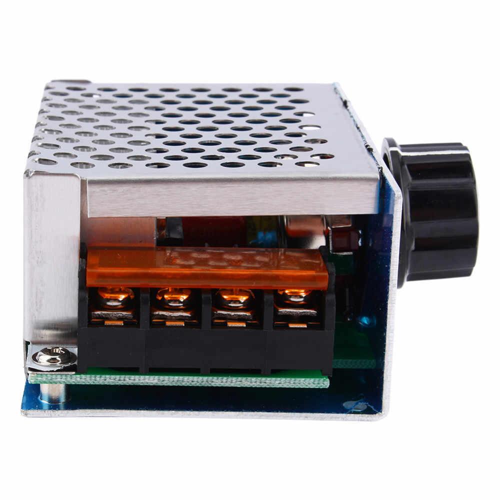 AC 220V 4000W SCR регулятор напряжения диммер Электрический мотор регулятор скорости модуль