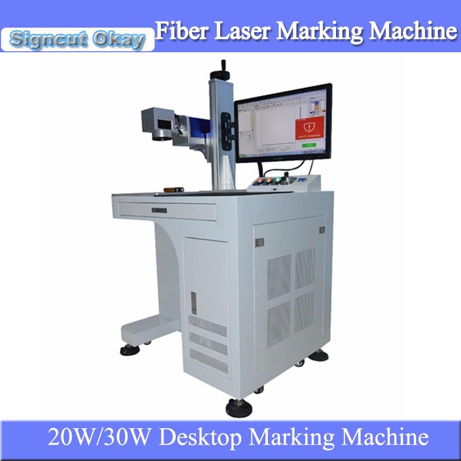 Machine de marquage en métal de laser de fibre de bureau de CNC de prix bon marché pour le marquage en aluminium dacier inoxydable