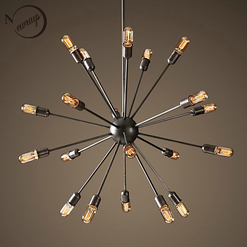 Modern Suspension Spider Pendant Lights With 6/8 Heads Loft American Country E27 for ding room bar cafe office bedroom