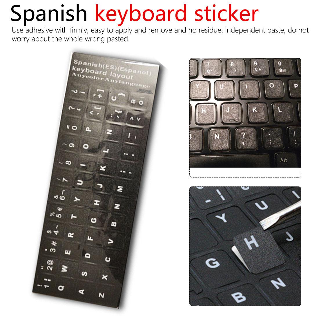 Pro Retina 13 15 17 Interesting/® 1 Stk Arabische Tastatur Aufkleber Wei/ße Buchstaben H/ülle f/ür MacBook Air Zoll