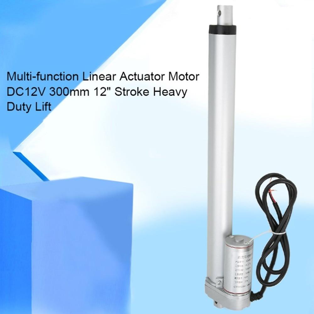 300mm 12inch Multi-function Linear Actuator Motor DC12V Stroke Heavy Duty Lift mini electric tubular motor NEW