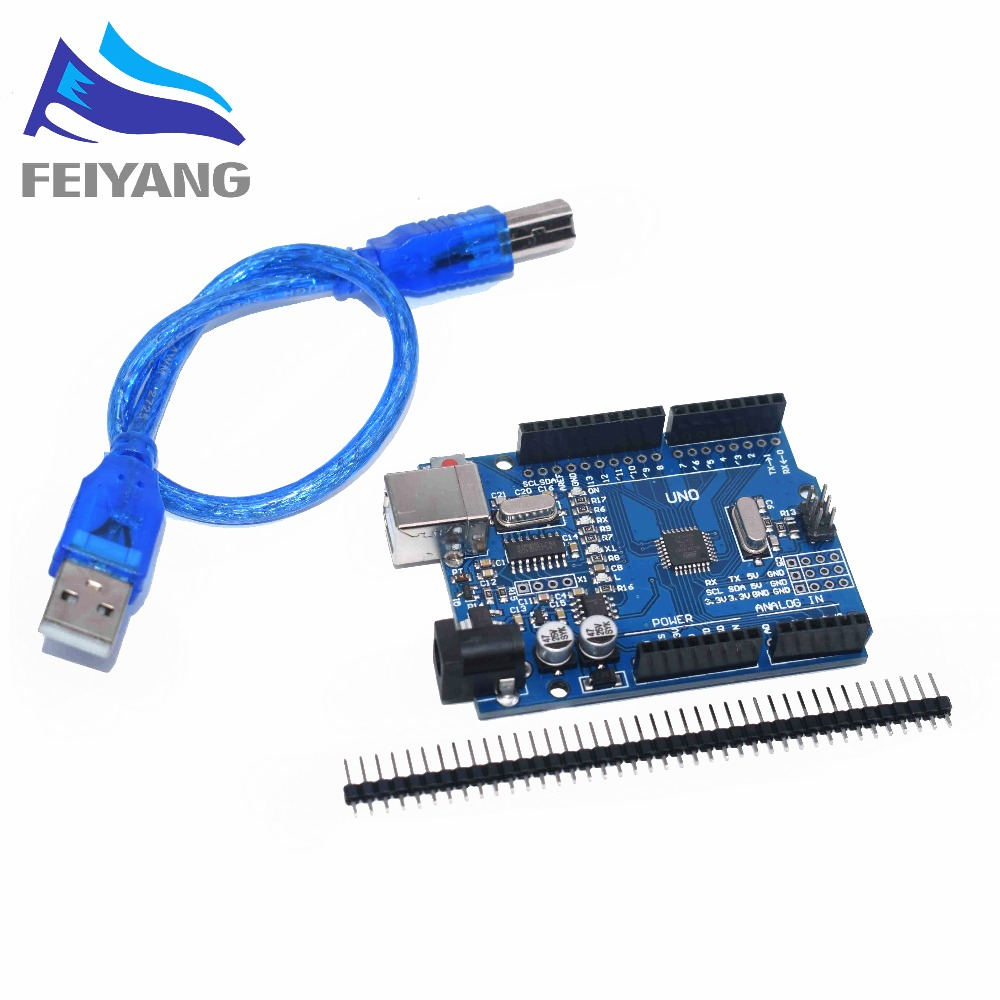 Integrated Circuits Usb Cable High Quality One Set Uno R3 Ch340g+mega328p Chip 16mhz For Arduino Uno R3 Development Board