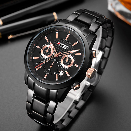 CHENXI Stainless Steel Wrist Watch Men Watches Top Brand Luxury Famous Quartz Wristwatch For Male Clock Hours Relogio Masculino new stainless steel wristwatch quartz watch men top brand luxury famous wrist watch male clock for men hodinky relogio masculino