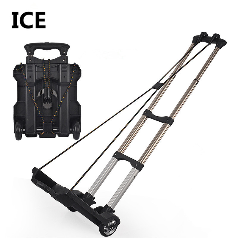 new arrived daily use at home small portable shopping luggage cart trolley car retractable folding bike