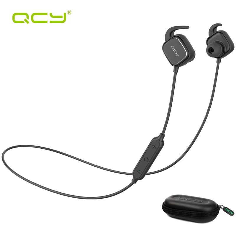 2017 QCY QY12 Aimant Commutateur Sans Fil Bluetooth Écouteurs Sport Auriculares Bluetooth Casques avec Microphone et boîte de rangement