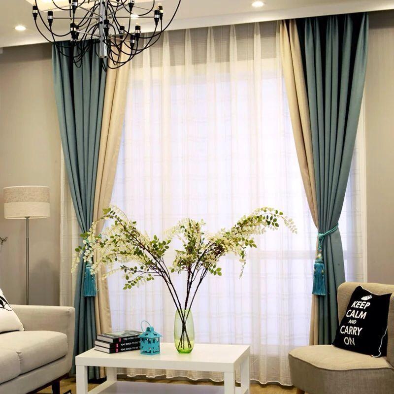 இNuevo remiendo caliente cortinas para sala cortinas para