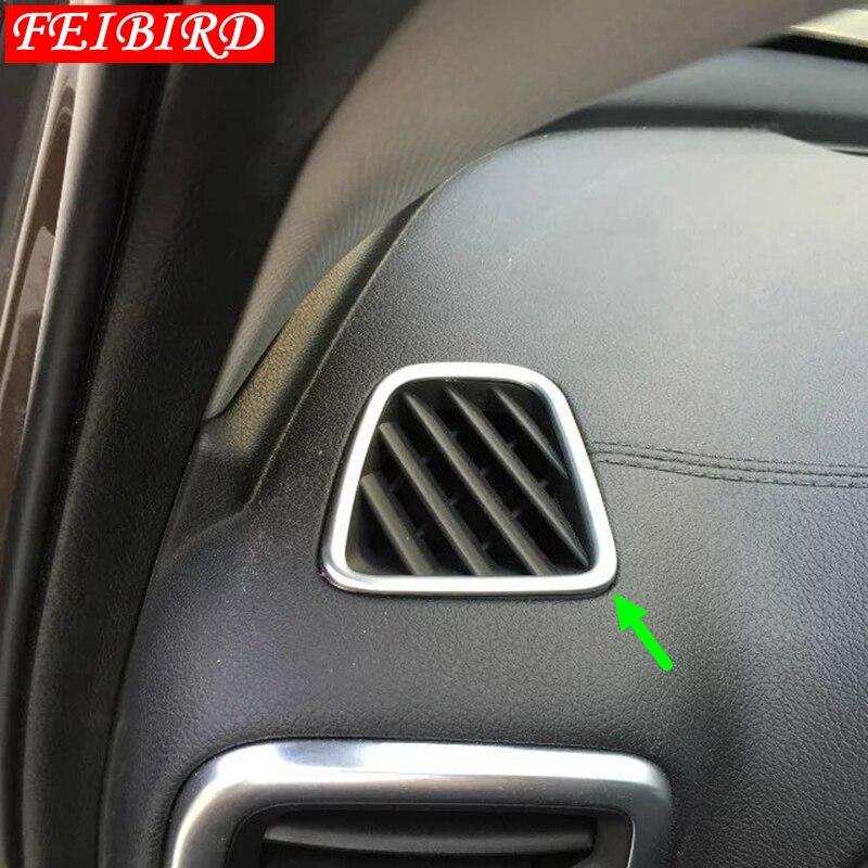 For Hyundai Tucson 2016-2018 Chrome Air Vent Trim Cover Dashboard Bezel Garnish