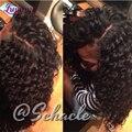 New Star Raw cabelo indiano do Virgin Closures onda profunda fechamento encaracolado profundo indiano virgem cabelo médio / Free / 3 parte encerramento