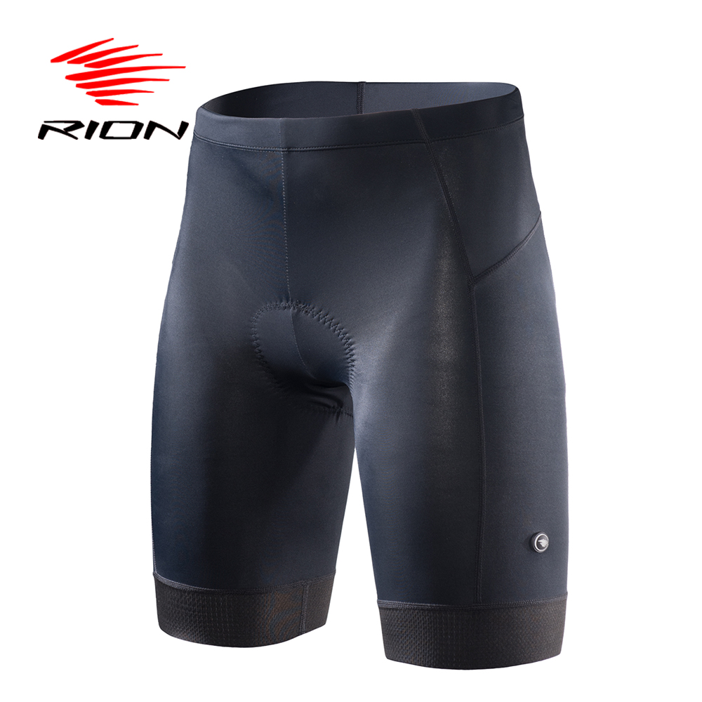 RION Men Cycling Shorts Bicycle Black MTB Mountain Bike Road Downhill Bike Sport Licra Bermuda Ciclismo Designs Tour Men Shorts