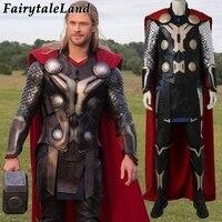 Мстители Возраст Ultron Тор карнавальный костюм на Хэллоуин костюмы для взрослых мужчин косплей супергерой Тор молот для костюма водонепрони...