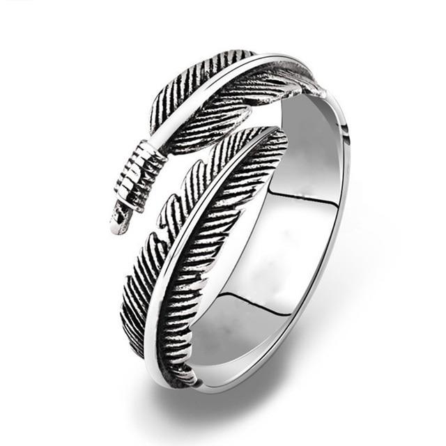 LNRRABC Stainless Steel Open Retro Men's Ring Finger Punk Ring Couple Jewelry Wh