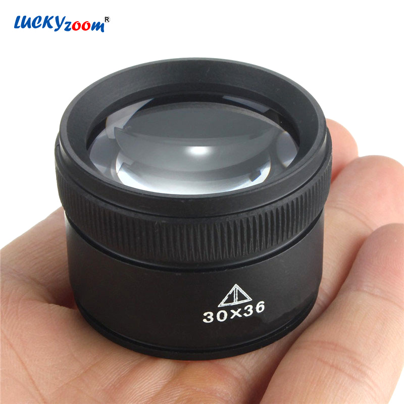 30X36mm 30X HD Magnifying Glass Optical Glass Lens Loupe Magnifier Mini Pocket Magnifier Handheld Coin Stamps Jewelry Loupe
