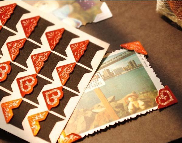 Wholesale 20 sheets Photo Paper Corner sticker Paper Photo Frame