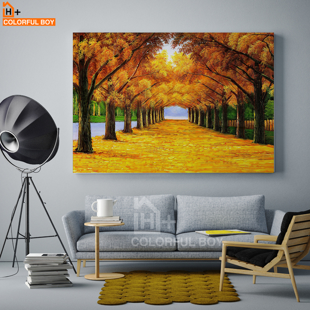 COLORFULBOY Wall Art Posters And Prints Oil Painting Gold Street ...