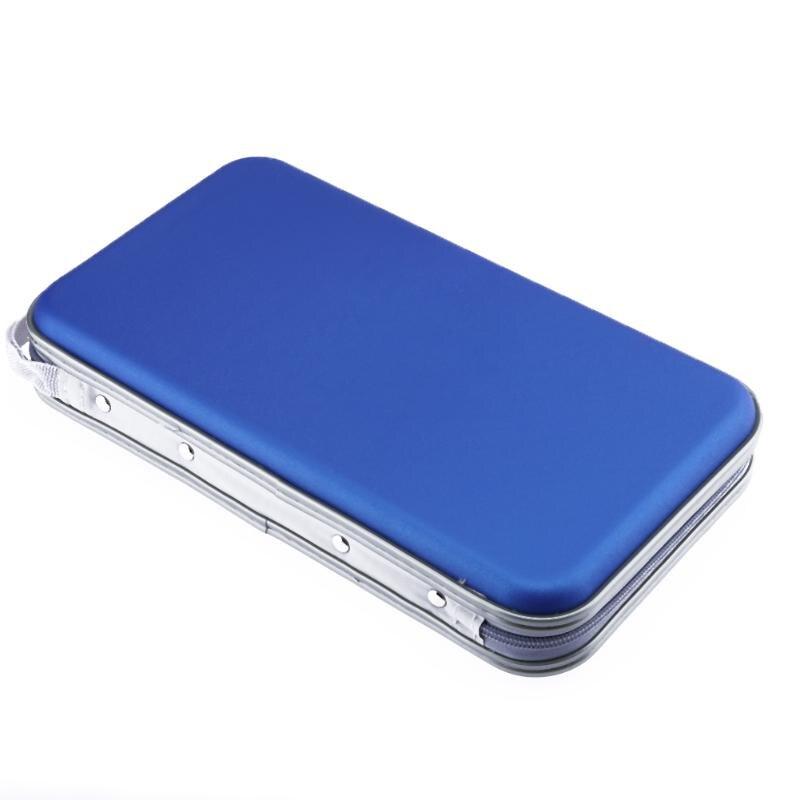 Alloyseed Portable 80pcs Disc CD DVD VCD Wallet Storage Organizer Case CD Sleeve Hard Bag Album Box Large Capacity With Zipper ...