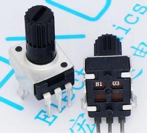 Вертикальный резистор RV09, 12 мм, 5K, 10K, 50K, 100K, 0932, регулируемый резистор, 9 типов, 3-контактный потенциометр уплотнения x 100 шт.