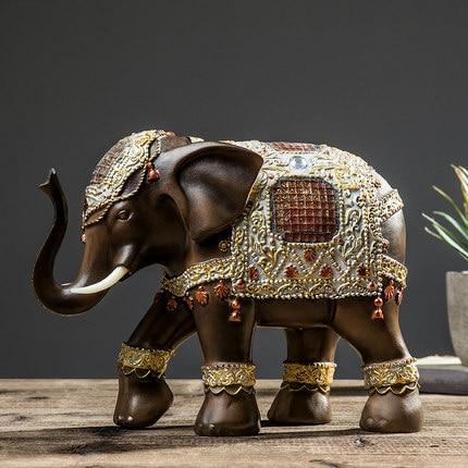 Asie du sud-est maison éléphant ornements créatifs chanceux Feng Shui maison salon porche décorations de bureau