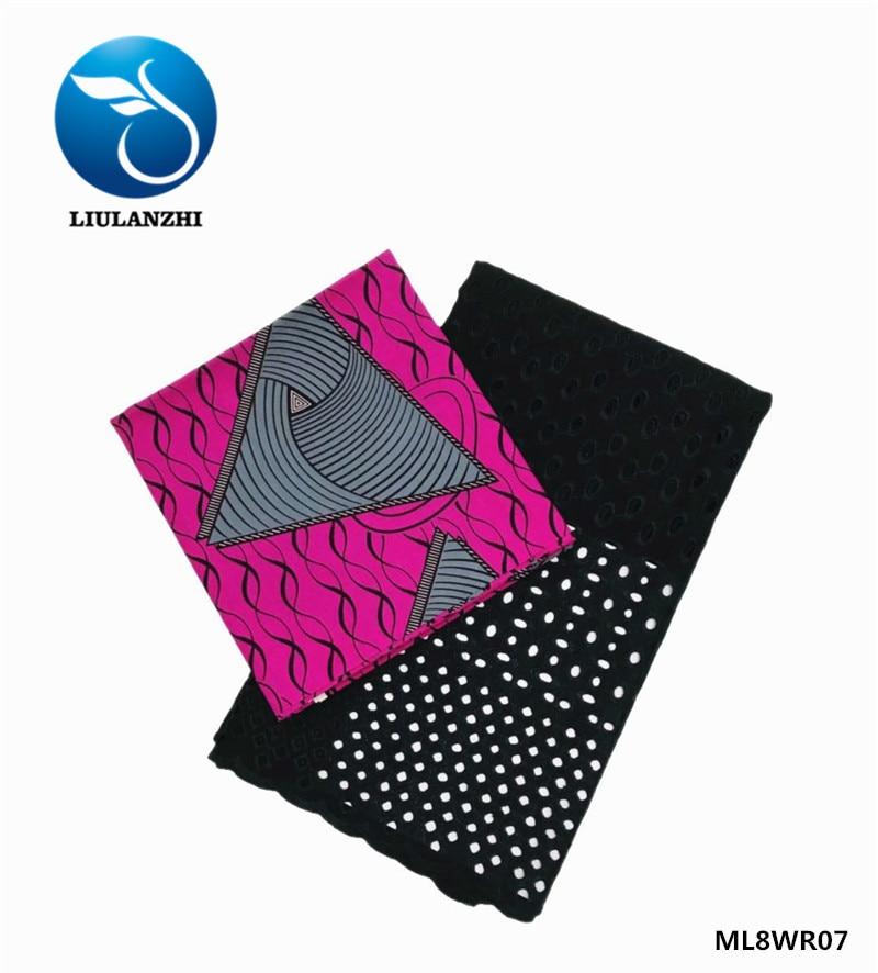 LIULANZHI africain dentelle tissu ankara cire néerlandais tissu cire nouveau design africain style dentelle tissus ML8WR15 - 4