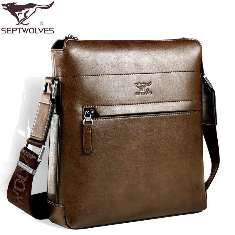 все цены на new collection 2017 fashion men bags , men's  leather messenger bag, high quality man brand design business bag онлайн