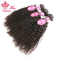 Queen Hair 100% Brazilian Virgin Hair Jerry Curly Brazilian Human Hair 3pcs/lot Weaves Bundles Human Hair Products DHL Free