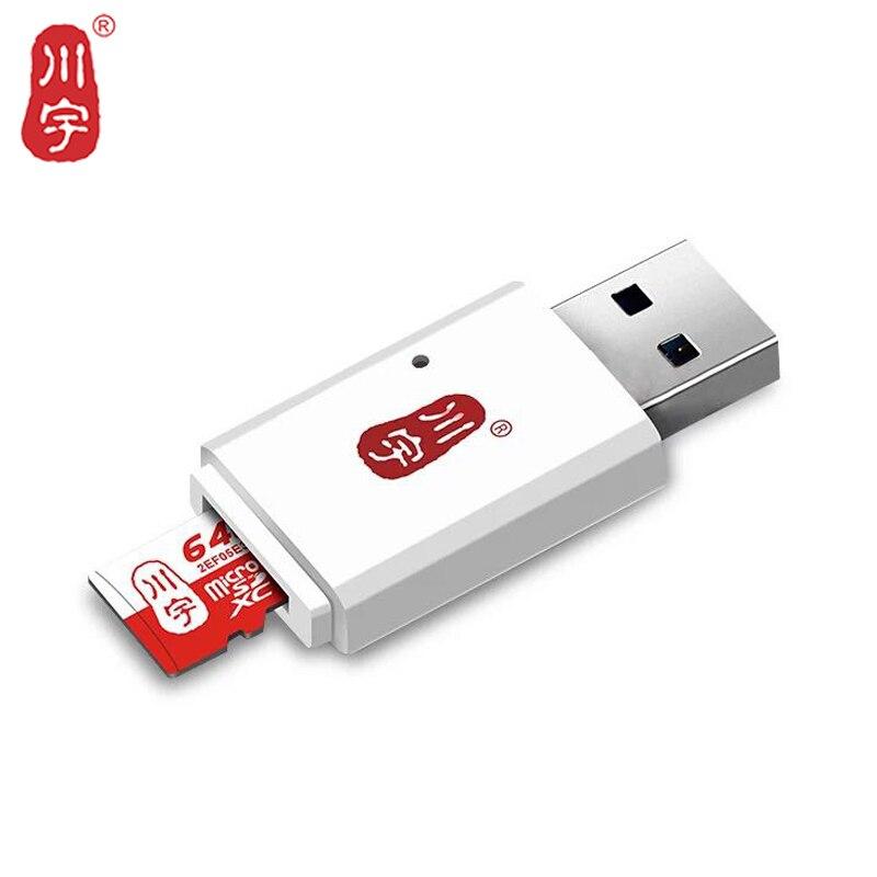 Kawau 3.0 USB Card Reader High Speed Mini Adapter with Micro SD Card / TF Card Slot for Computer Memory Card Reader C308