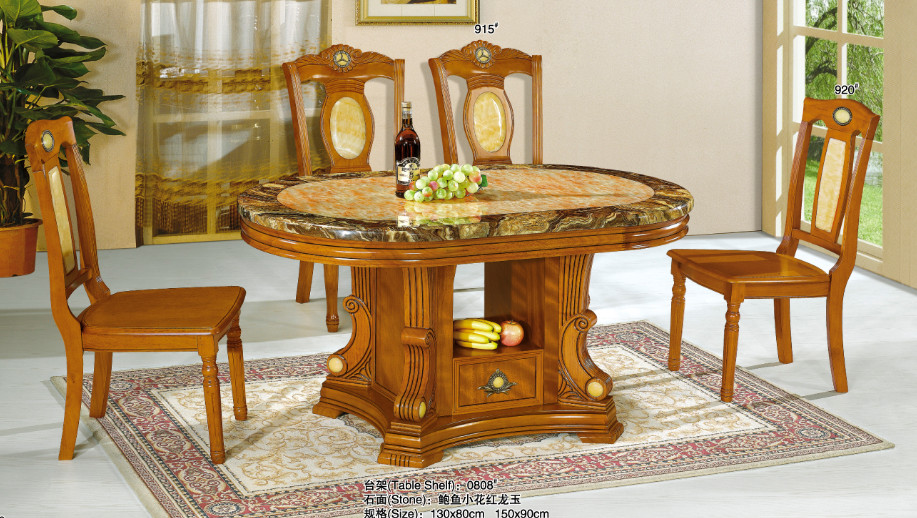 Modern Rectangular Nature Marble Top Dining Table For Room Furniture