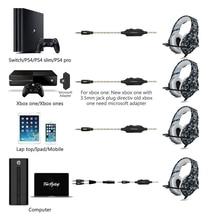 Professional Black Camo Noise Canceling Studio Wired Gaming Earphone Headphones