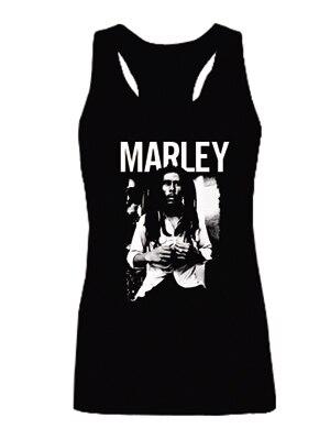 Nova chegada Bob Marley Reggae Rasta de cobre de qualidade moda Vest Tops sem mangas da menina sml XL 2XL