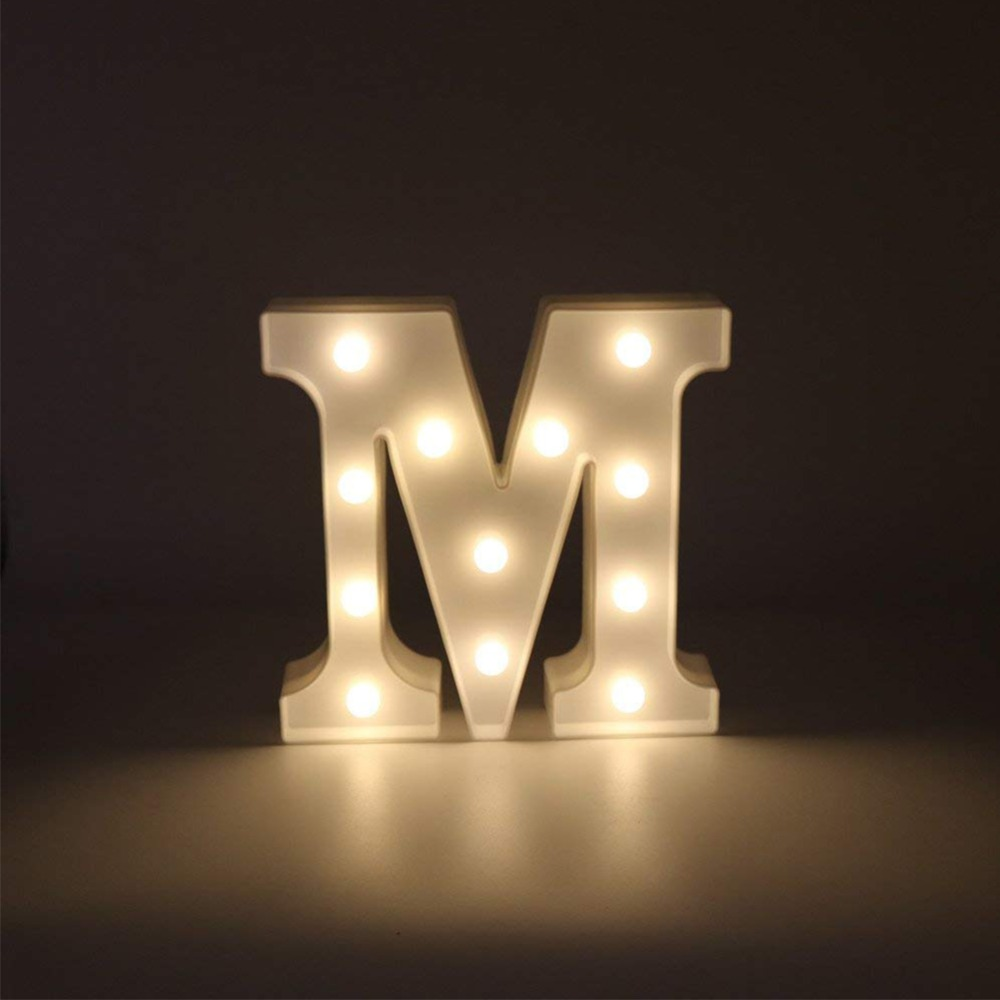 все цены на Creative 3D A-Z Letter LED Light White Light Up Decoration Symbol Indoor WALL Decoration Wedding Party Window Display Light