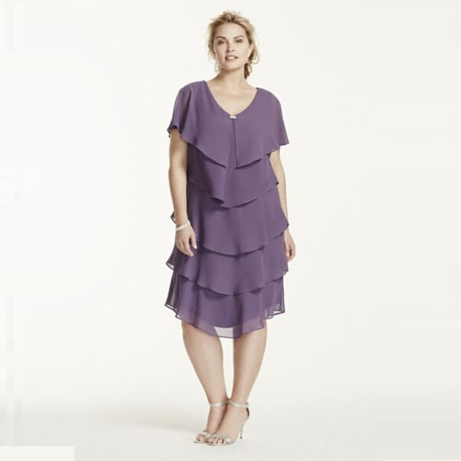 2015 New Stylish Short Sleeve Mother Of The Bride Dresses