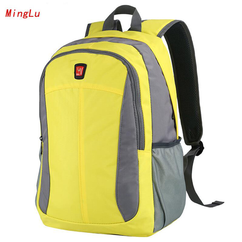 MingLu Preppy Style Backpacks High-capacity Teenager Schoolbag 15.6 inches Laptop Backpack Lightweight Nylon Fashion Bag M344