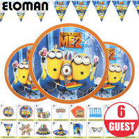 minions theme birthday party sets birthday party set for baby kids decorations for 6 guest