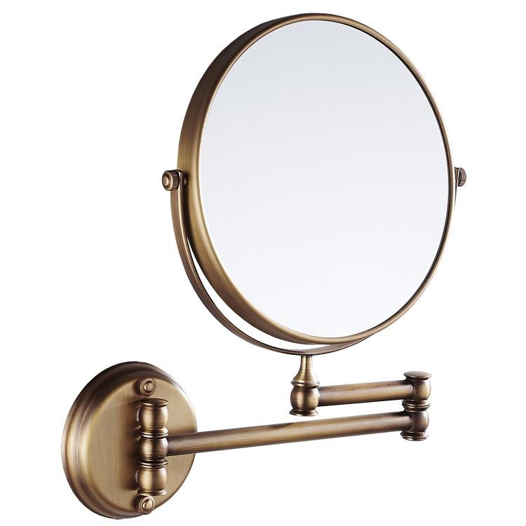Retro bathroom 8 inch folding makeup mirror flip telescopic beauty mirror wall hanging bathroom mirror цена 2017