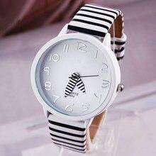 Meboyixi Brand 2017 New Simple Design Zebra Crossing Stripe Cow Women Watch Girl Children Wristwatches relogio feminino saat