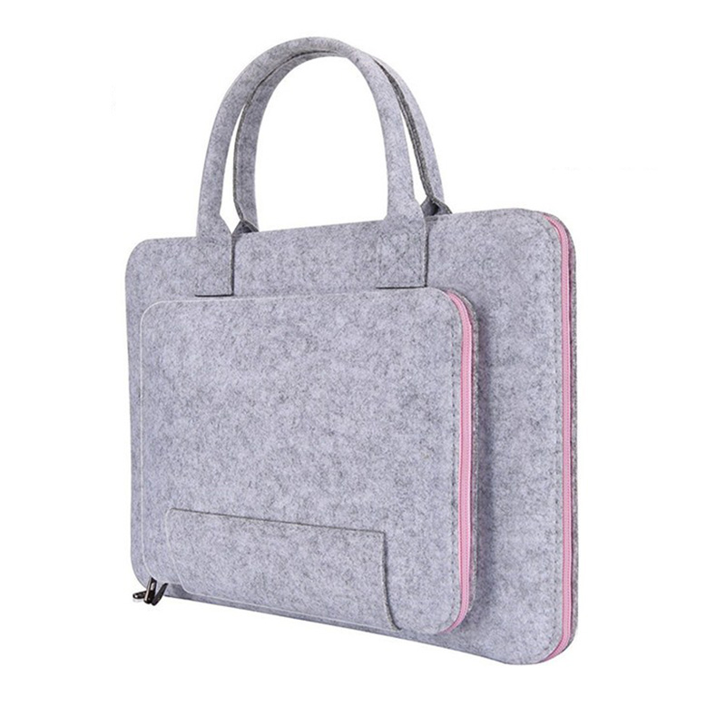 High Quality Laptop Bag, Felt Laptop Sleeve Notebook Computer Case Carrying Bag Pouch With Handle For Asus / Lenovo