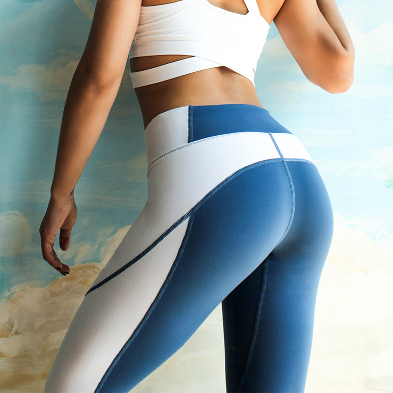 Leggings Women Fashion Push Up High Waist Elasticity Slim Leggings Fitness Leggings Female Patchwork Woman Workout Pants 2018