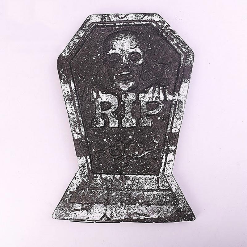 halloween decoration gravestone scarf black tombstones prop for home halloween party decoration ornaments 38265cm - Halloween Tombstone Decorations