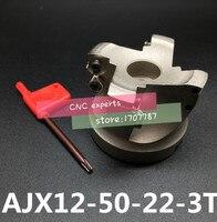 AJX12 50-22-3T торцевая фреза для фрезерного станка с индексируемой плоской шероховатой резкой  фреза с ЧПУ