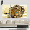 Canvas Wall Art Animal Oil Painting Leopard Modular Pictures Decorative Prints and Posters 3 Panel for Living Room Wall No Frame 1
