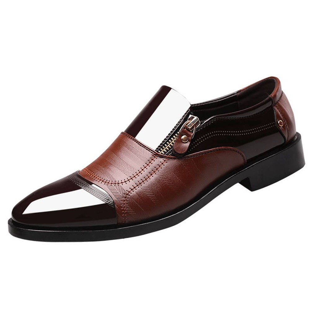 Brand New Luxury Men Shoes Patent Leather Shoes Dress Office Shoes Men Formal 2018 Business Leather Shoes Man stylish men s formal shoes with patent leather and embossing design